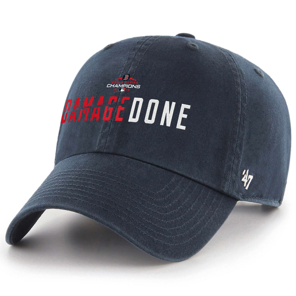 BOSTON RED SOX 2018 World Series Champions Damage Done '47 Clean Up Adjustable Cap - NAVY