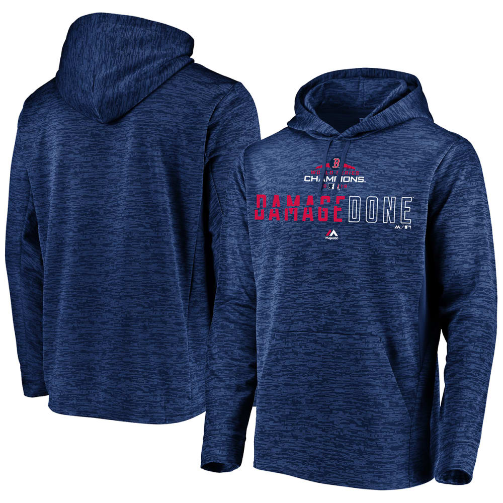 BOSTON RED SOX Men's 2018 World Series Champions Damage Done Pullover Hoodie - NAVY