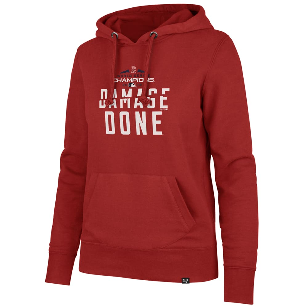 BOSTON RED SOX Women's 2018 World Series Champions Damage Done Pullover Hoodie S