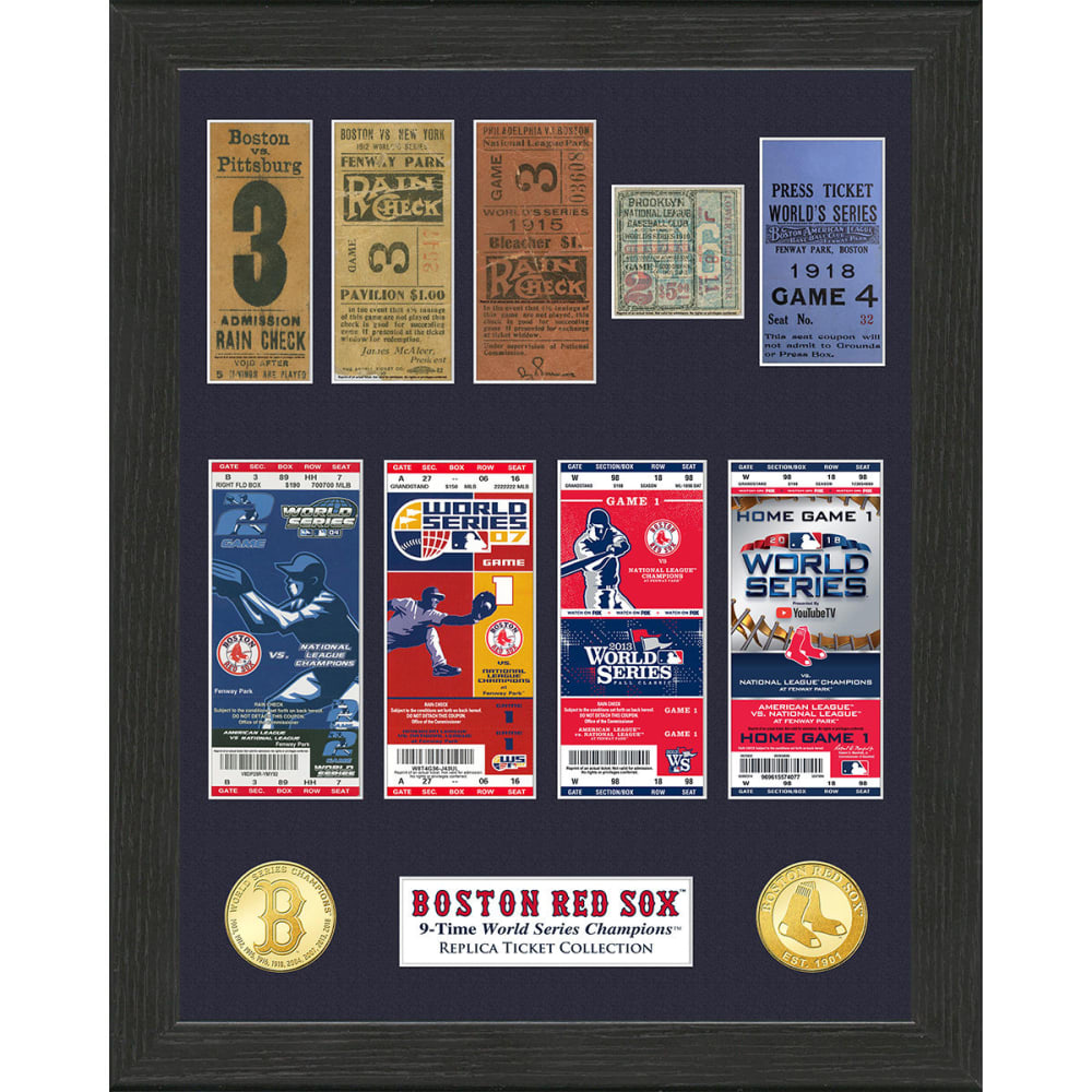 BOSTON RED SOX 9-Time World Series Champions Ticket Collection - NO COLOR