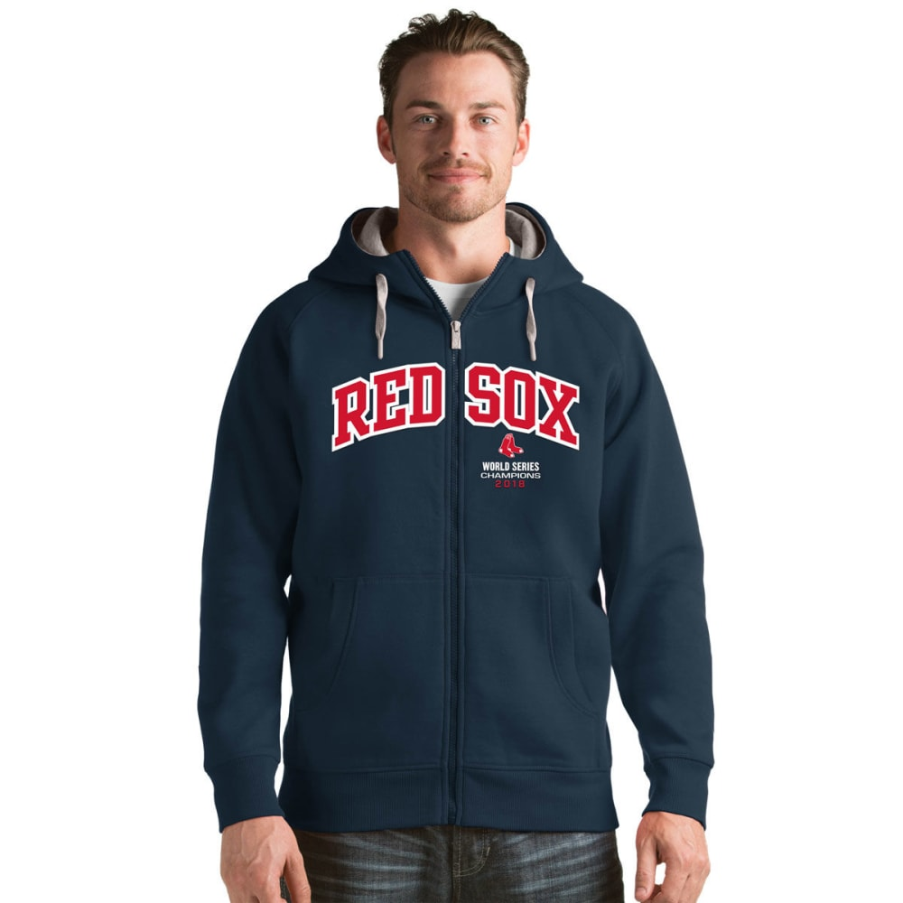 BOSTON RED SOX Men's 2018 World Series Champions Victory Full-Zip Hoodie - NAVY