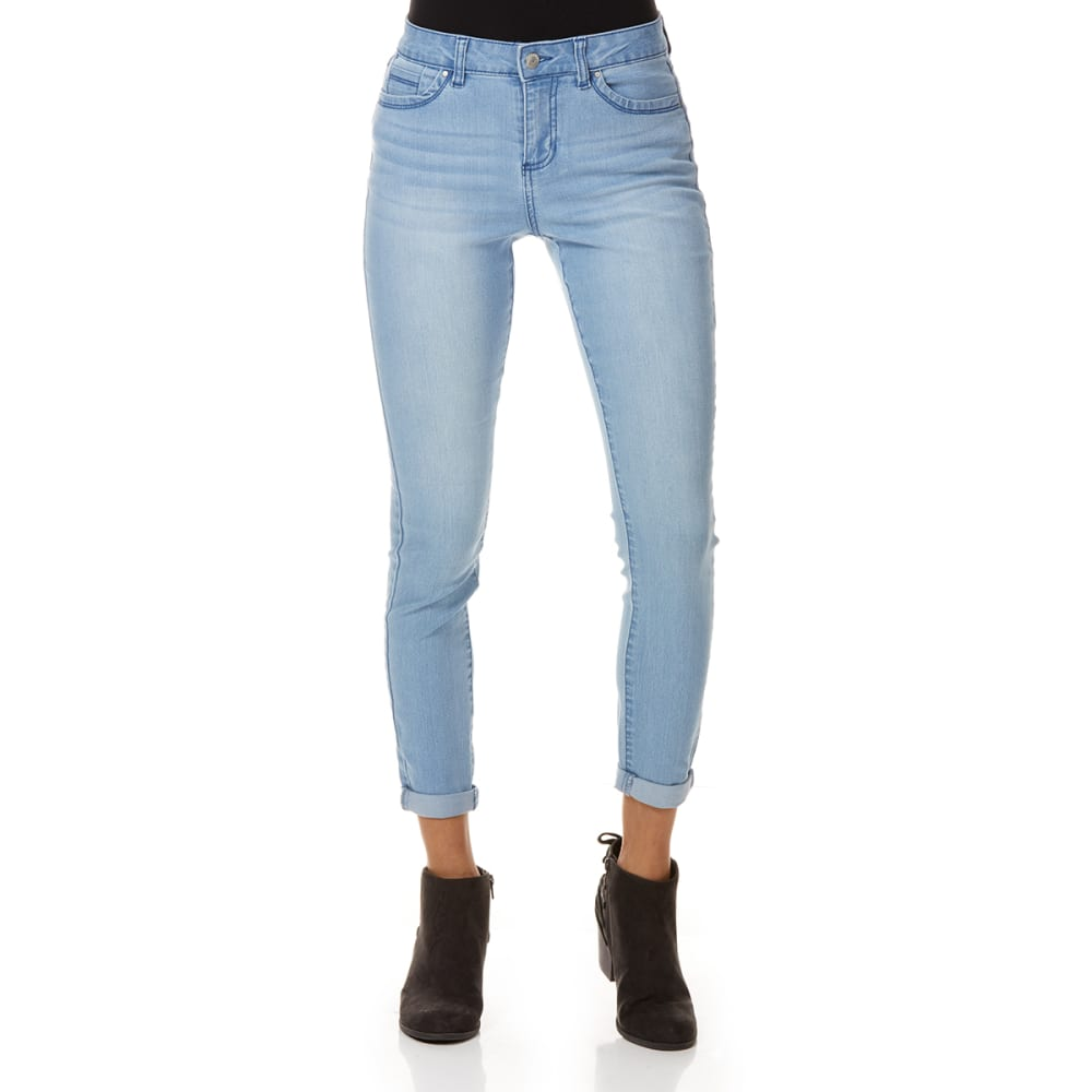 BLUE SPICE Juniors' High Rise Rolled Ankle Jeans 1