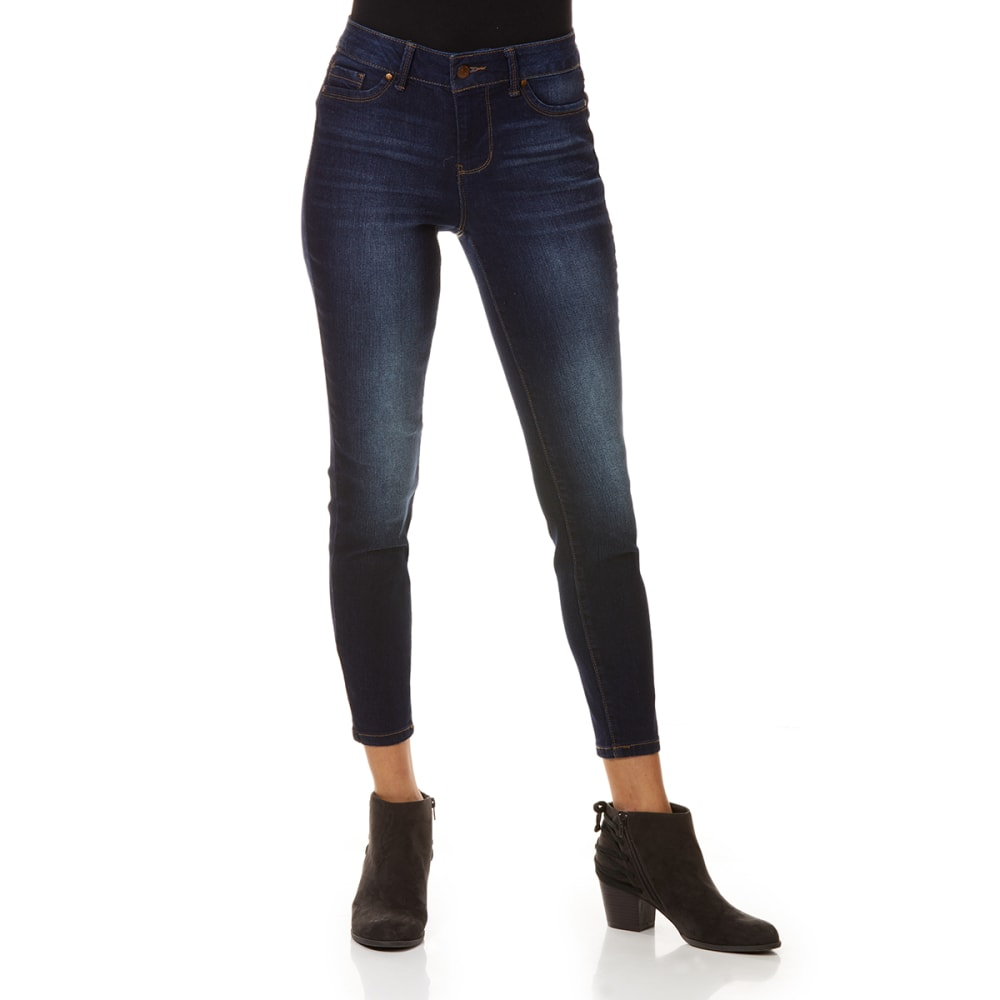 BLUE SPICE Juniors' Denim Destructed High Rise Ankle Jeans 0