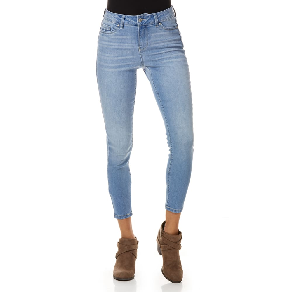 Blue Spice Juniors' Denim Destructed High Rise Ankle Jeans