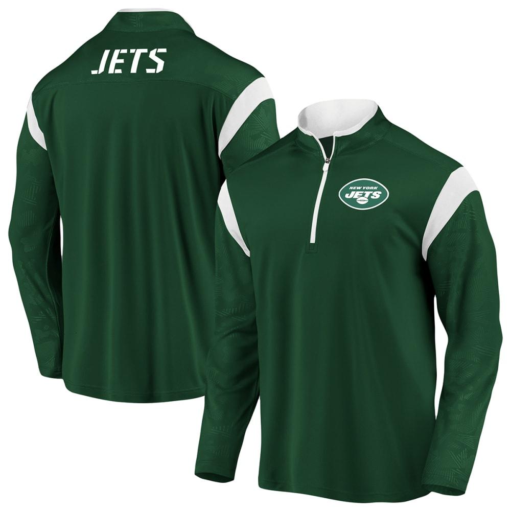 NEW YORK JETS Men's Defender Mission 1/4-Zip Pullover M