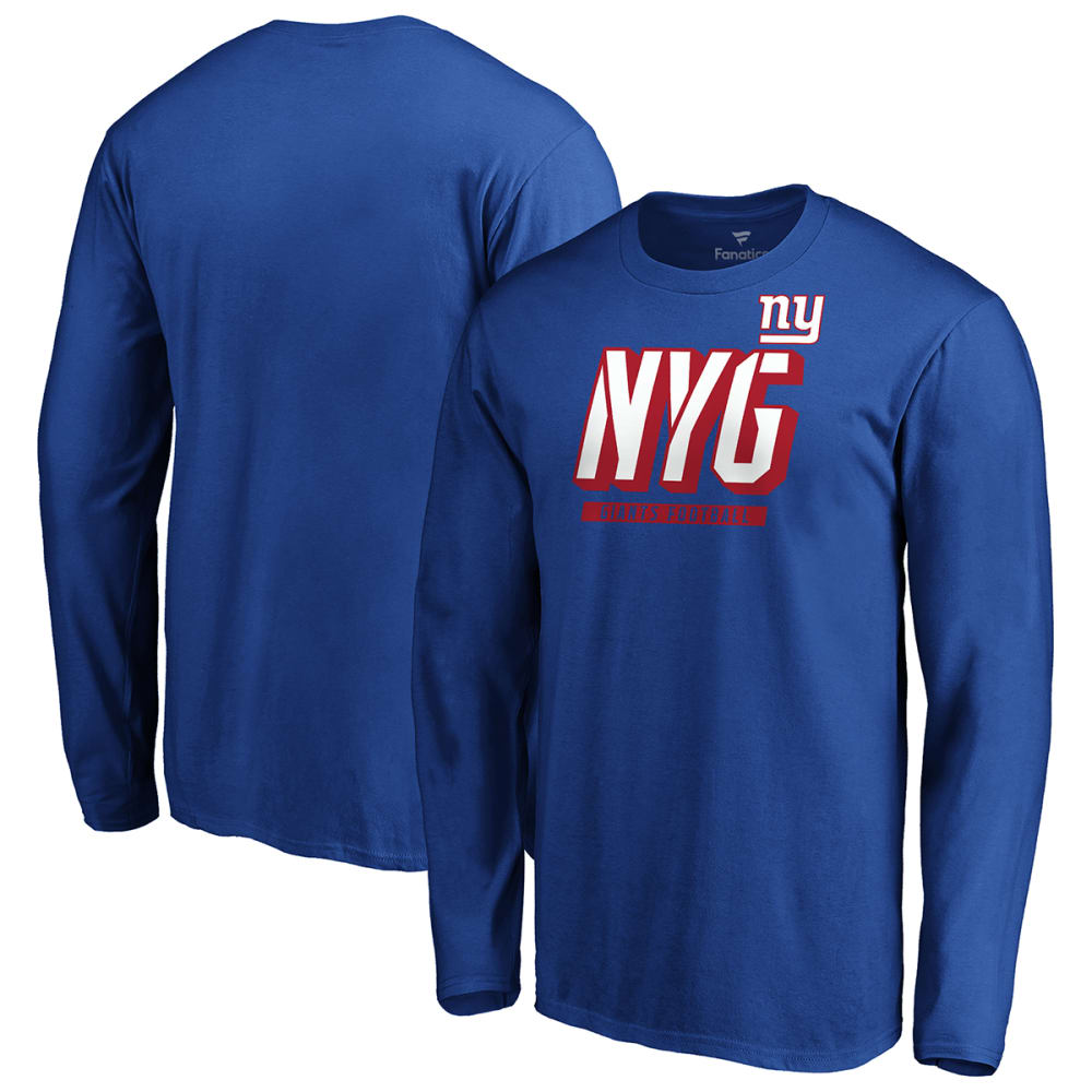 NEW YORK GIANTS Men's Iconic Tricode Logo Long-Sleeve Tee M