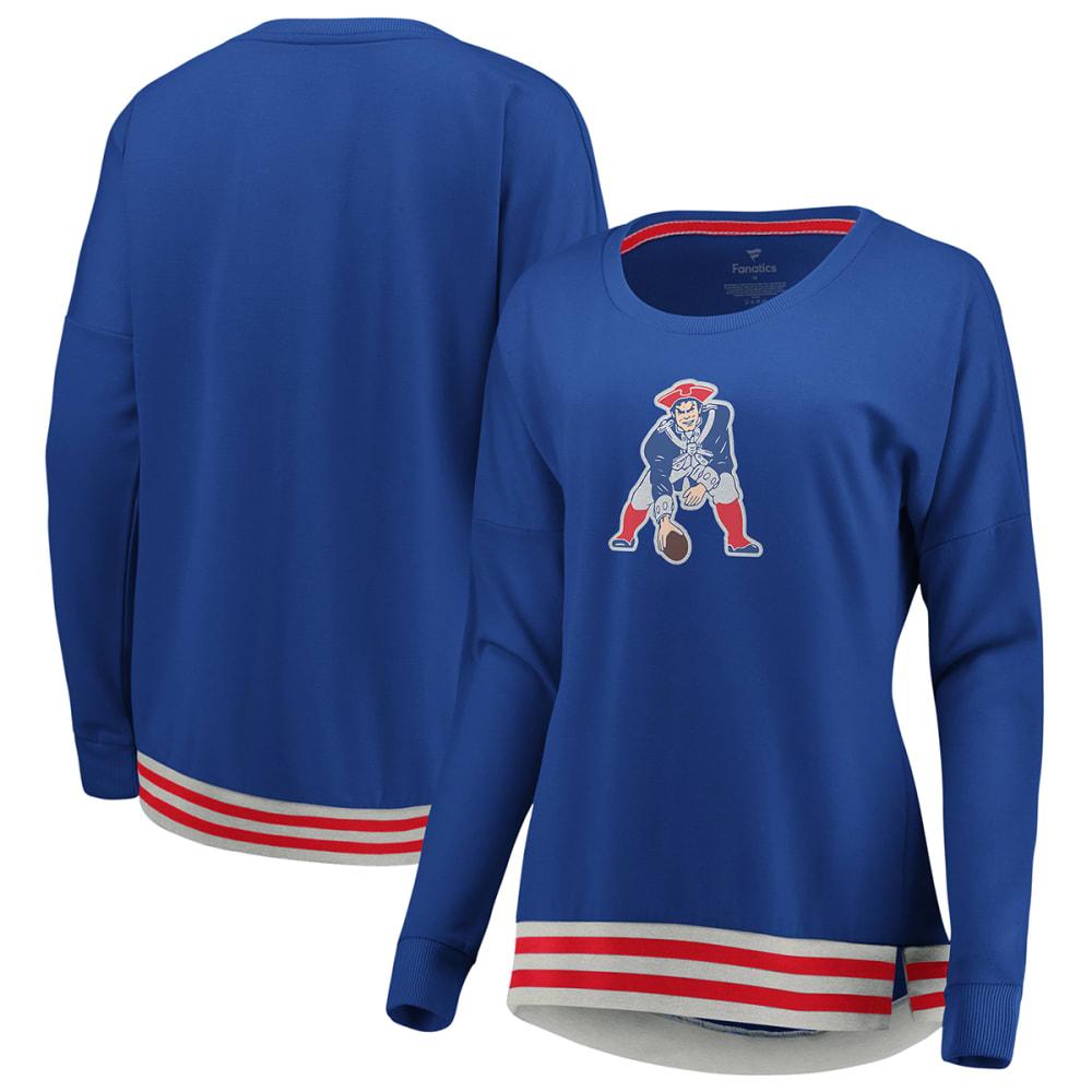 NEW ENGLAND PATRIOTS Women's Roaring Glory Long-Sleeve Sweatshirt S