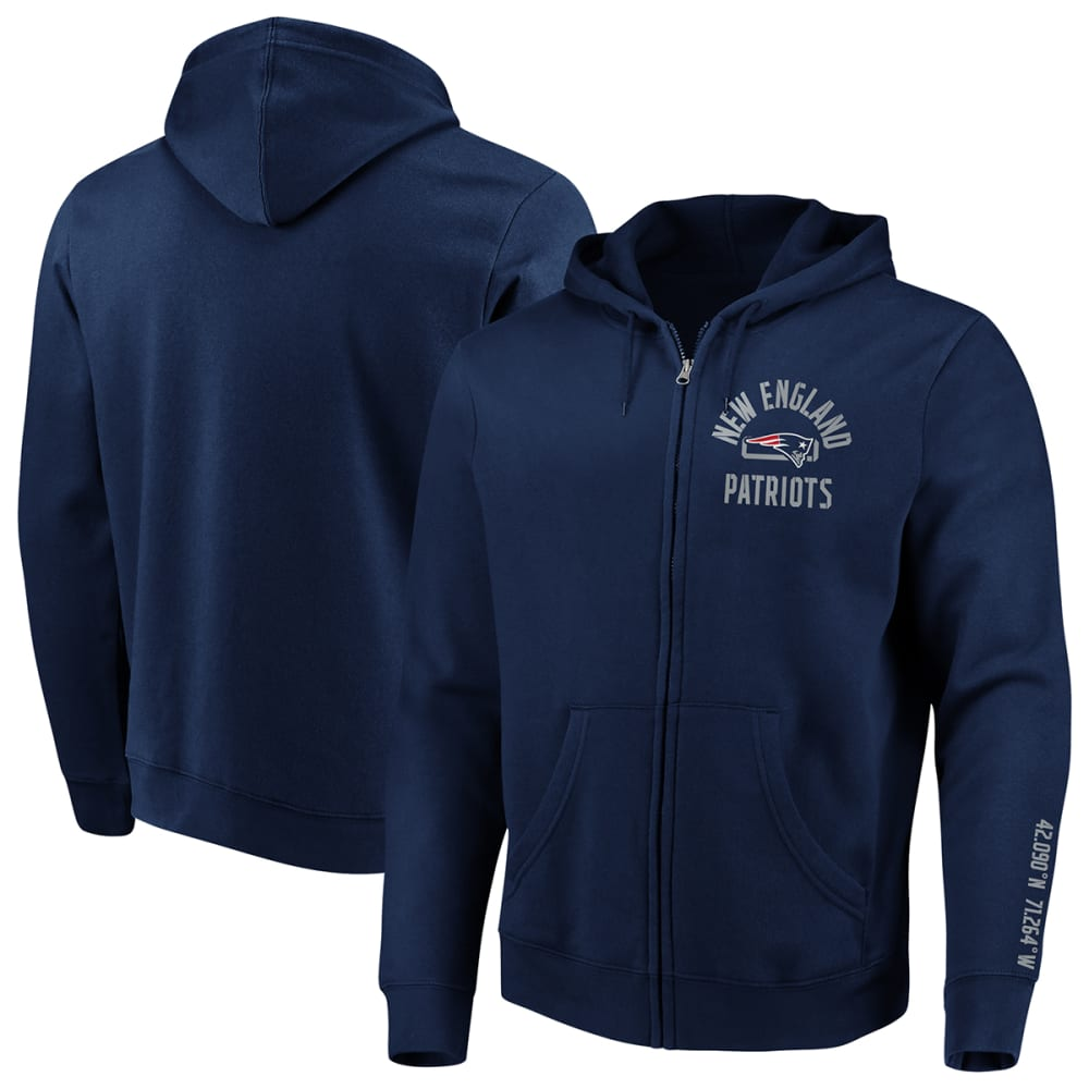NEW ENGLAND PATRIOTS Men's Stencil Arch Full-Zip Hoodie M