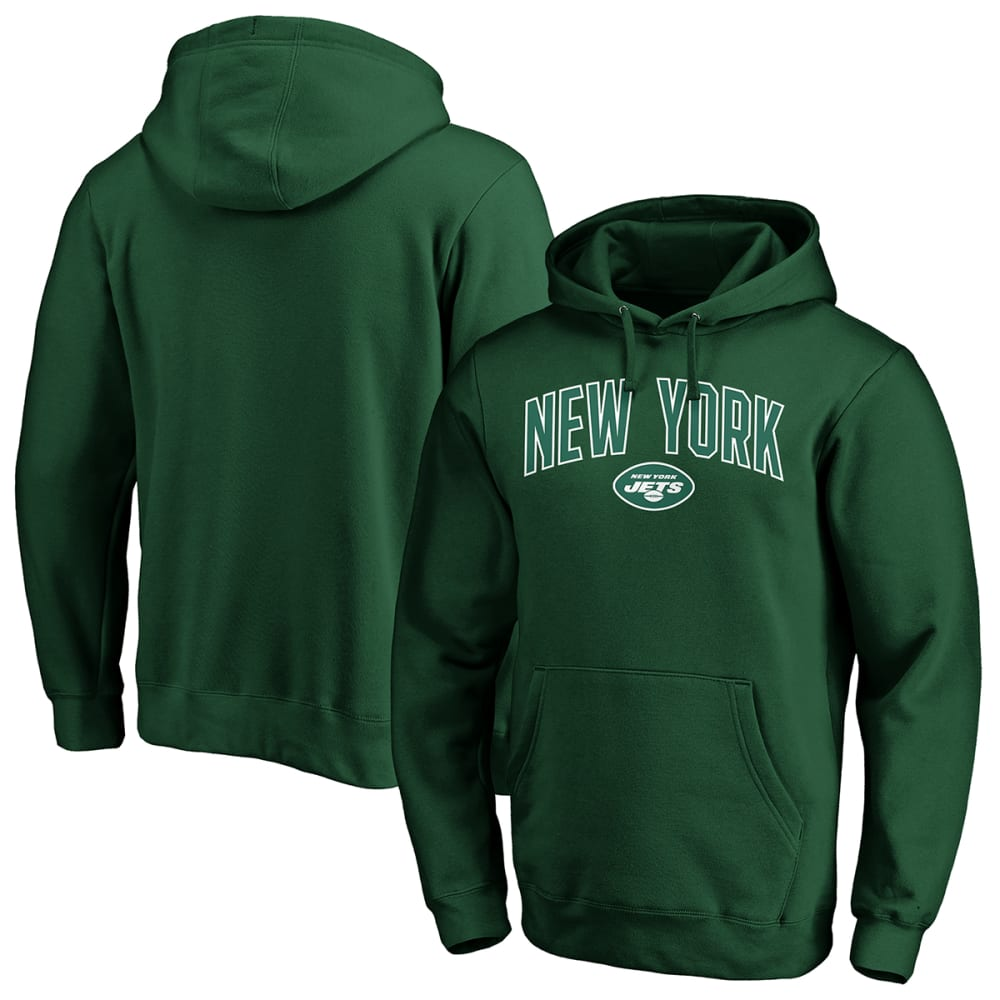 NEW YORK JETS Men's Engage Arch Pullover Hoodie L