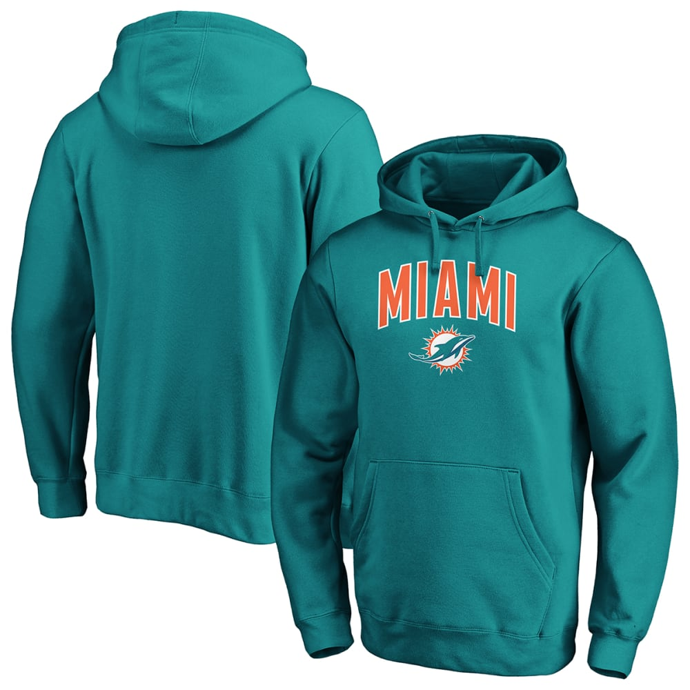 MIAMI DOLPHINS Men's NFL Pro Line Arch Pullover Hoodie M