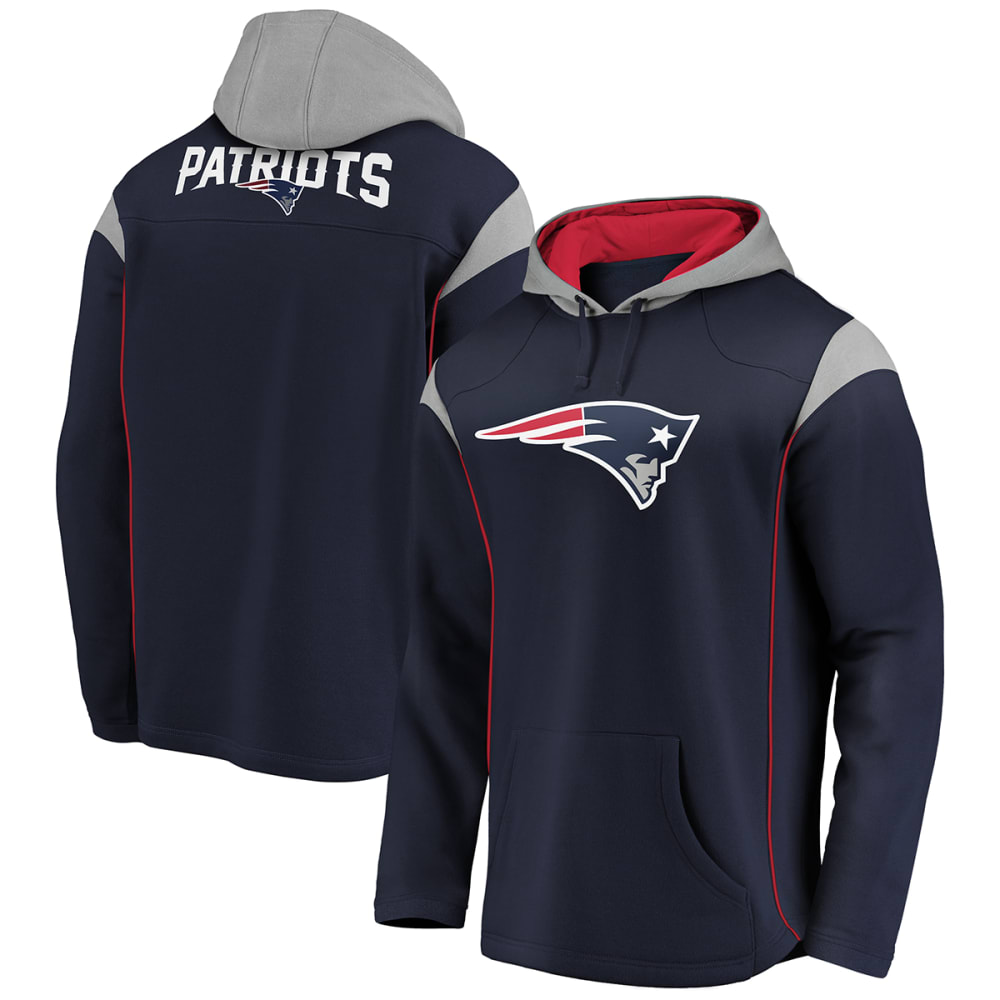 NEW ENGLAND PATRIOTS Men's Red Zone Pullover Hoodie M