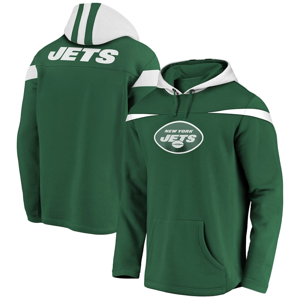NEW YORK JETS Men's Red Zone Pullover Hoodie L