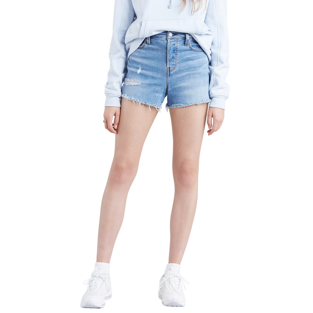 Levi's Women's High Waisted Jean Shorts - Blue, 27