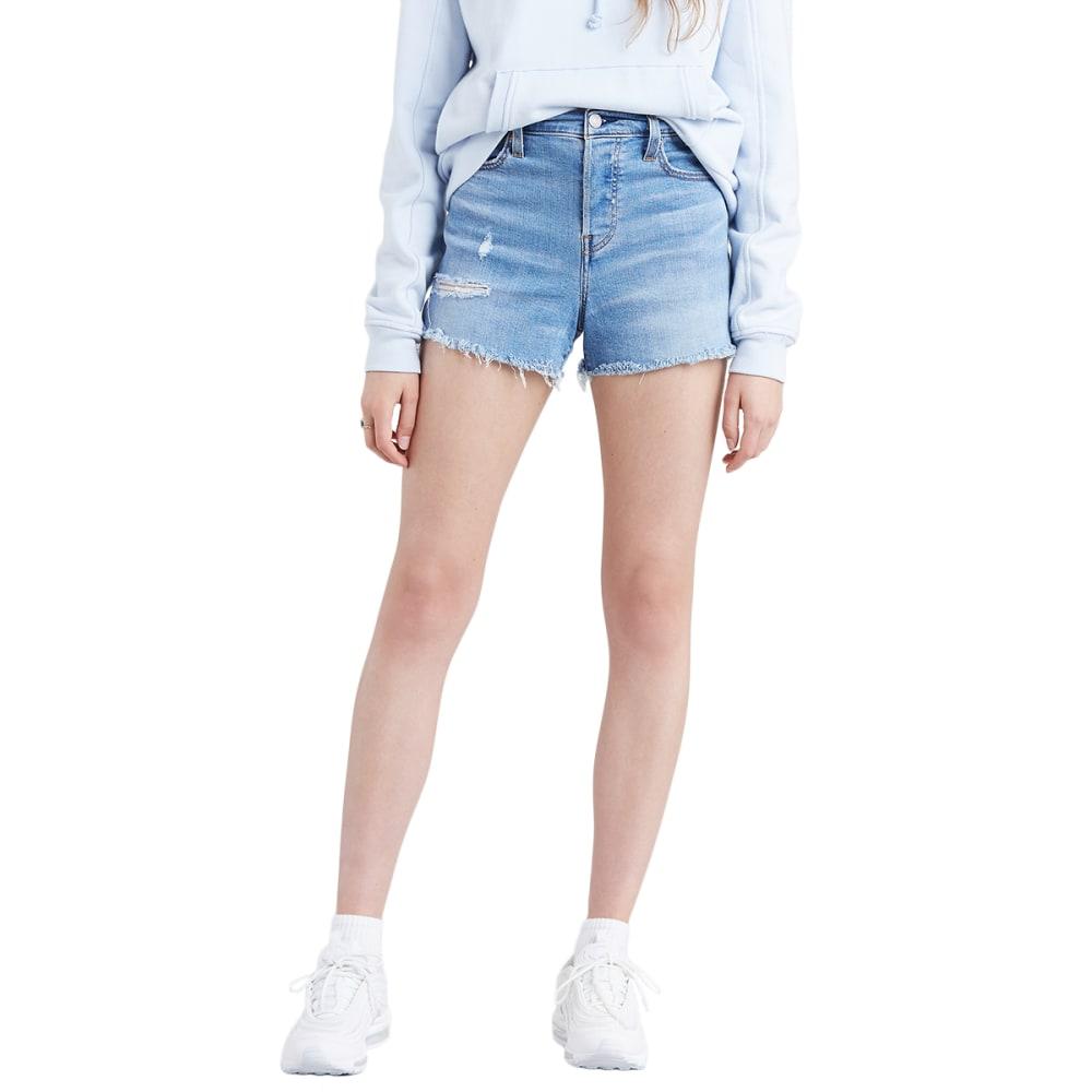 LEVI'S Women's High Waisted Jean Shorts - BIG CITY LITES-0003