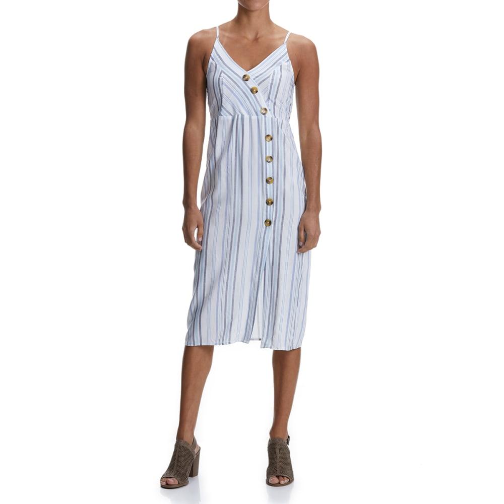 NO COMMENT Juniors' Button Front Maxi Dress - 2637E SHASHTA STP