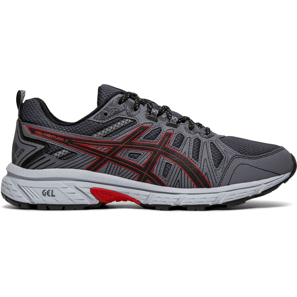 Asics Men's Gel-Venture 7 Running Shoes - Black, 8