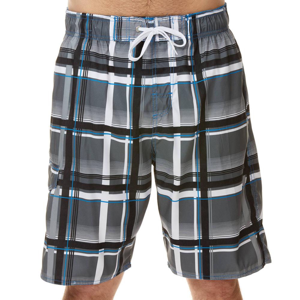No Fear Men's Printed Swim Shorts - Black, S