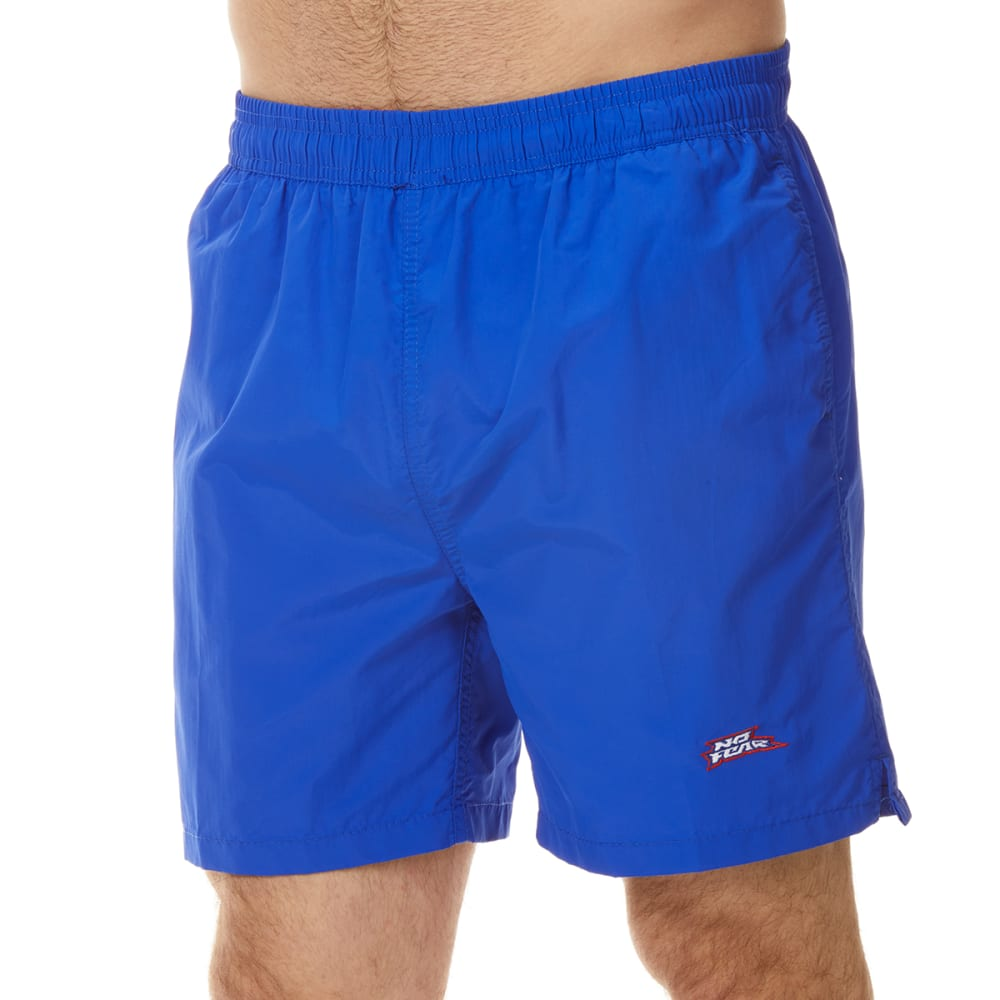 No Fear Men's Solid Swim Shorts - Blue, M