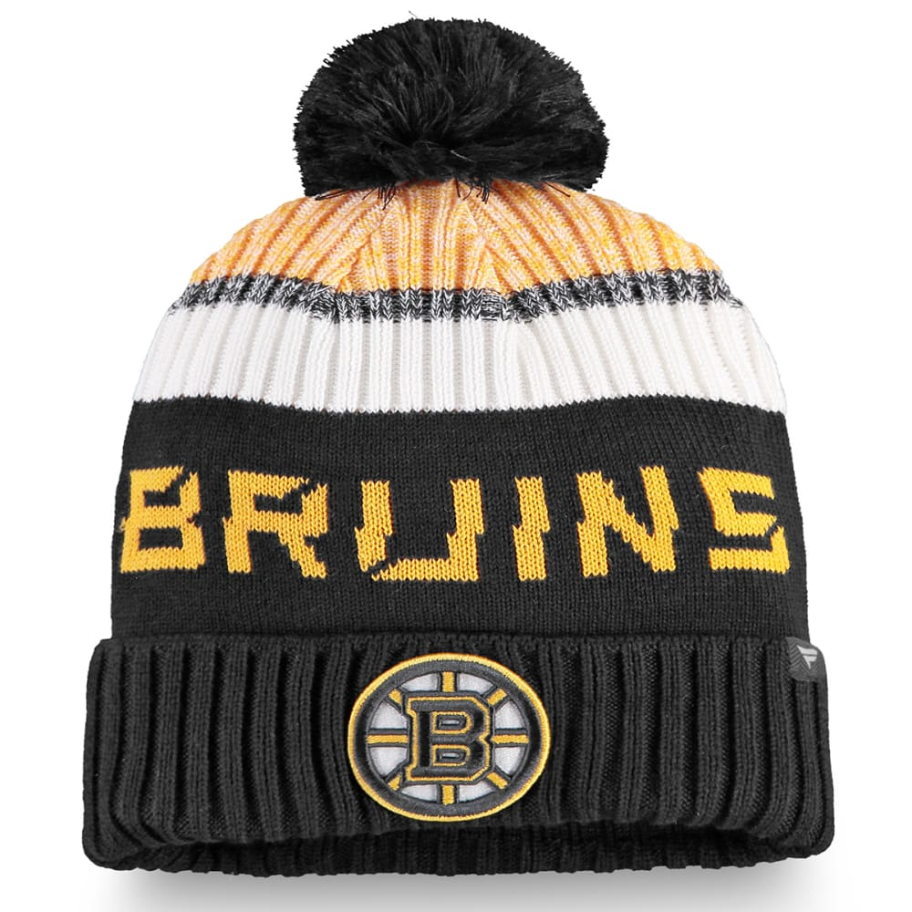 BOSTON BRUINS Men's Authentic Pro Rinkside Goalie Beanie with Pom ONE SIZE