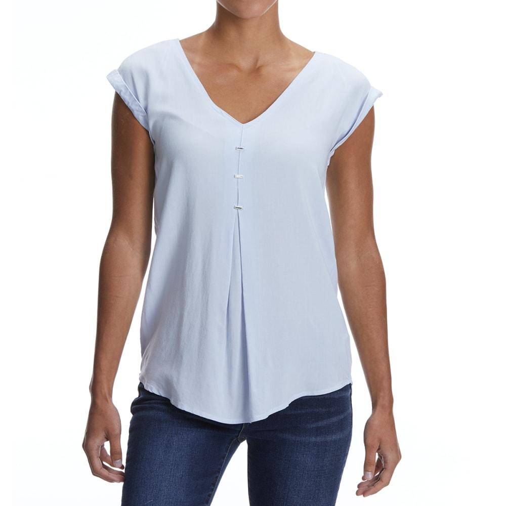 MAISON COUPE Women's Rayon Cap-Sleeve Shirt S