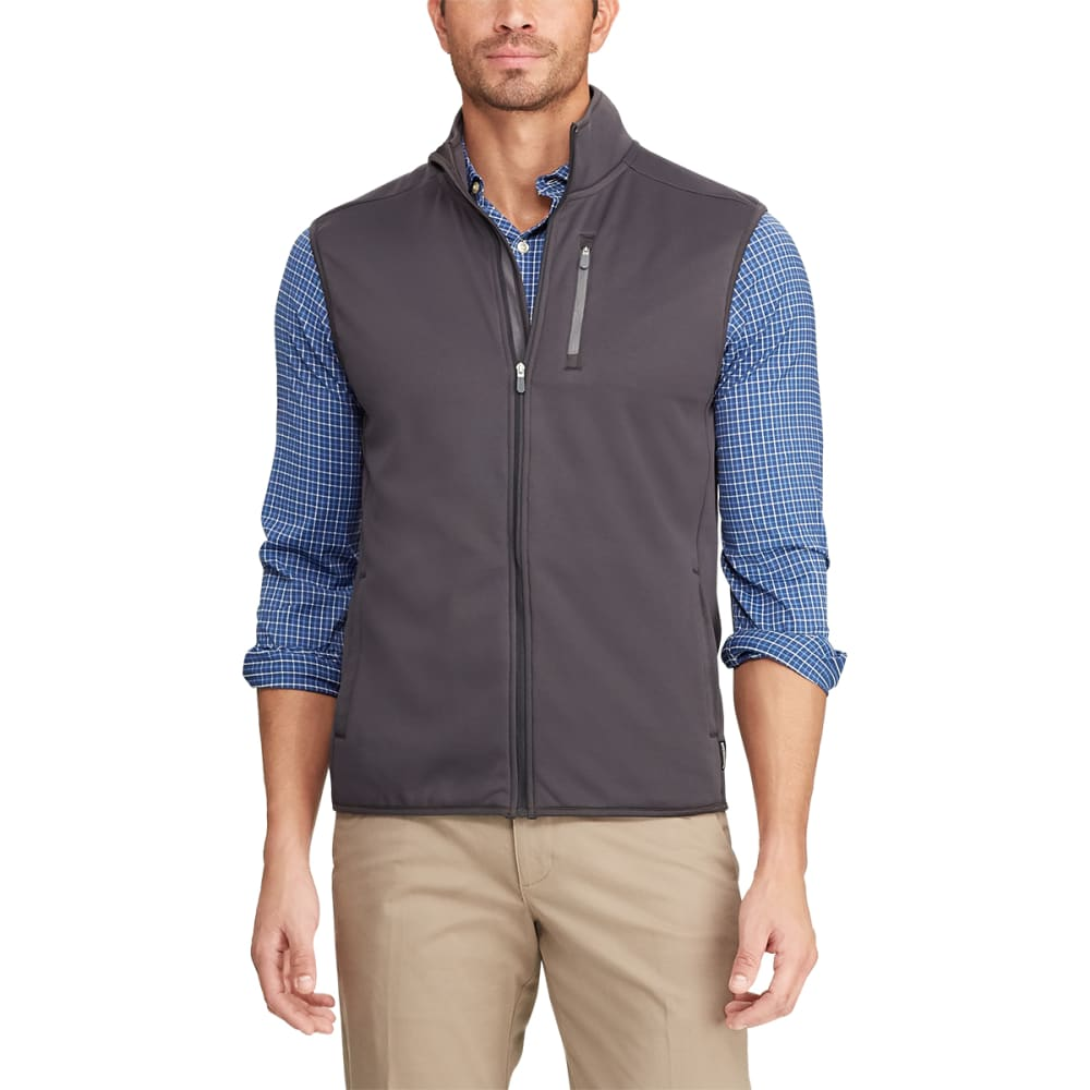 CHAPS Men's Classic-Fit Full-Zip Tech Fleece Vest L