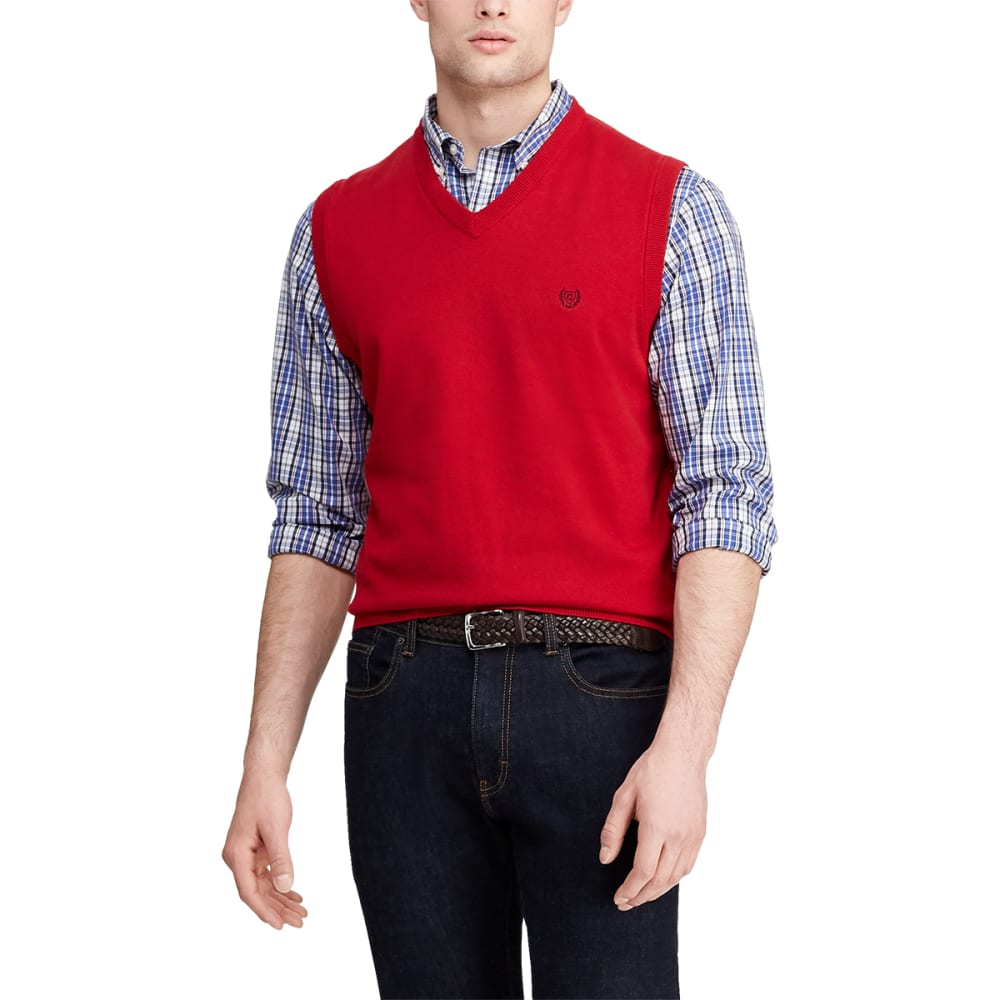 CHAPS Men's Classic Fit V-Neck Sweater Vest L
