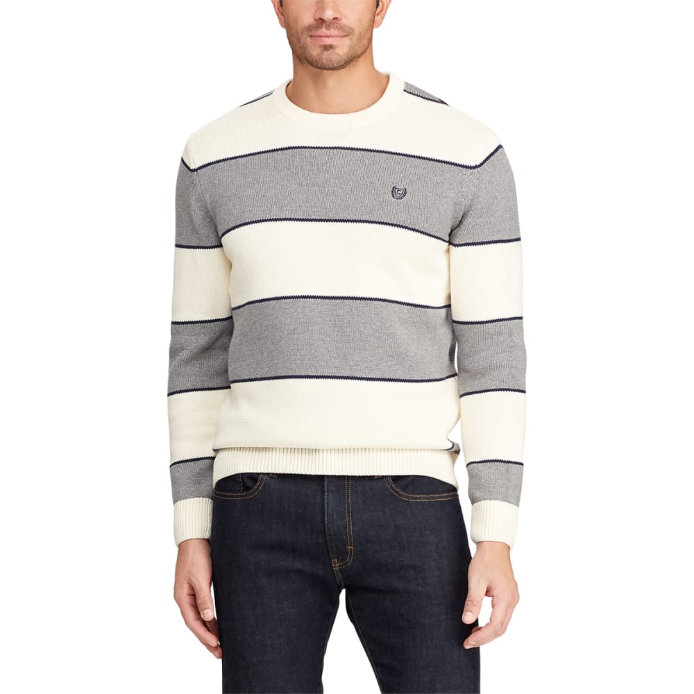 CHAPS Men's Promo Crewneck Striped Sweater M