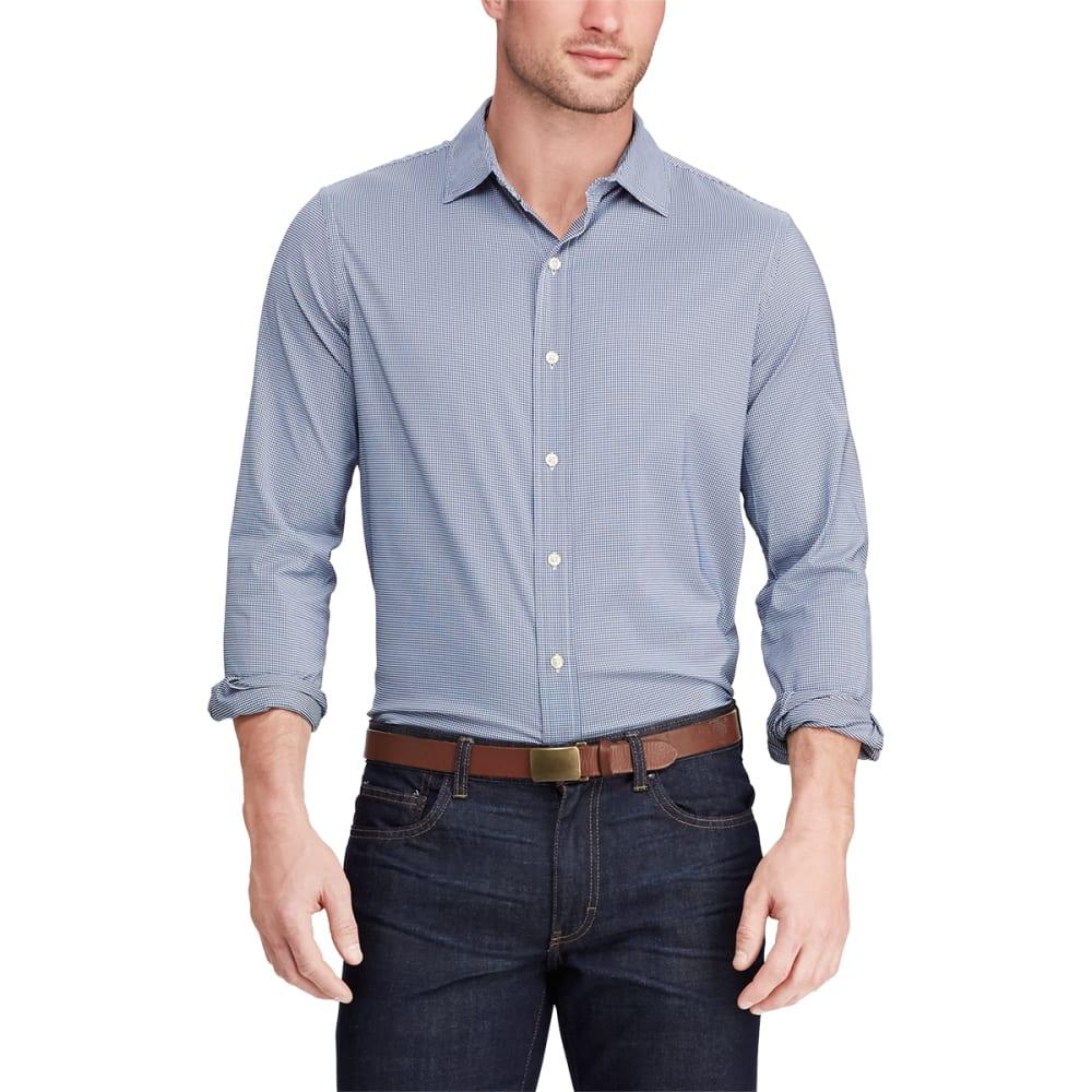 CHAPS Men's Long-Sleeve Performance Check Stretch Twill Shirt M