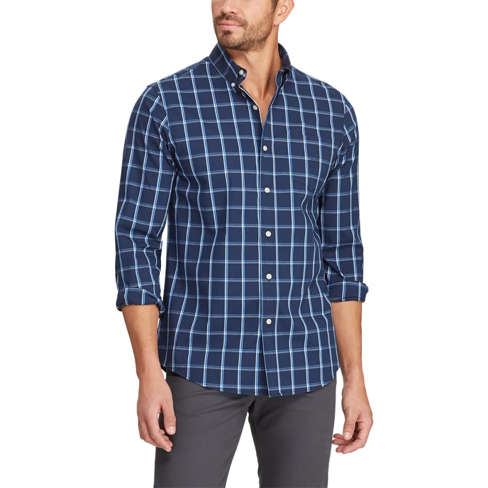 CHAPS Men's Easy Care Stretch Button-Down Shirt M