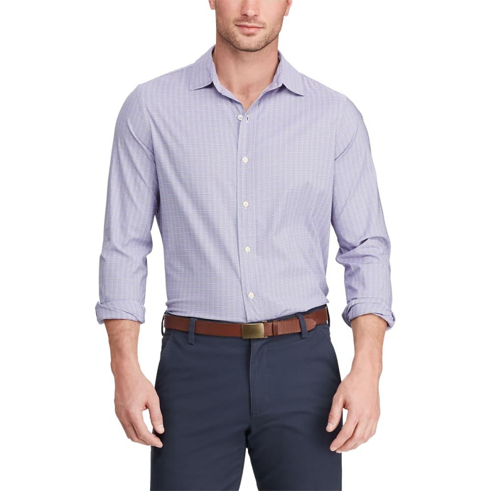 CHAPS Men's Classic-Fit Performance Long-Sleeve Button-Down Shirt M