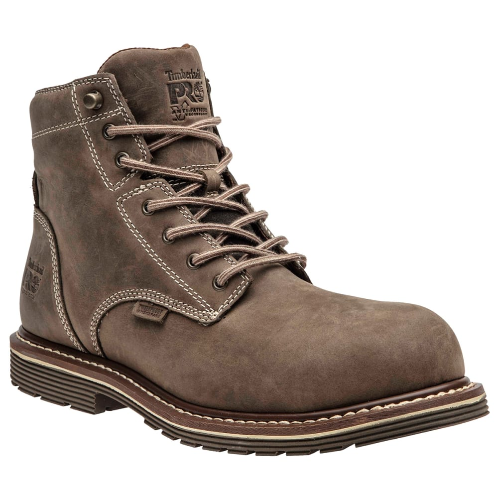 "Timberland Pro Men's Millwork 6"" Composite Toe Boot - Brown, 8"