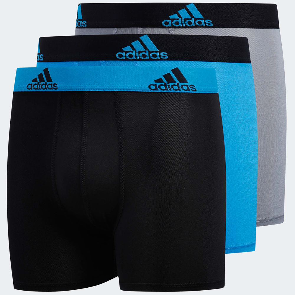 ADIDAS Boys' Climalite Boxer Briefs, 3 Pack M