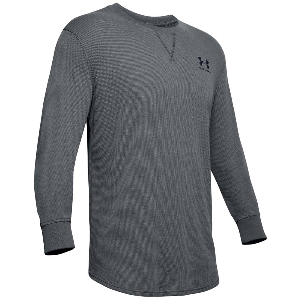 UNDER ARMOUR Men's Long-Sleeve Sportstyle Essential Texture Crewneck Shirt M