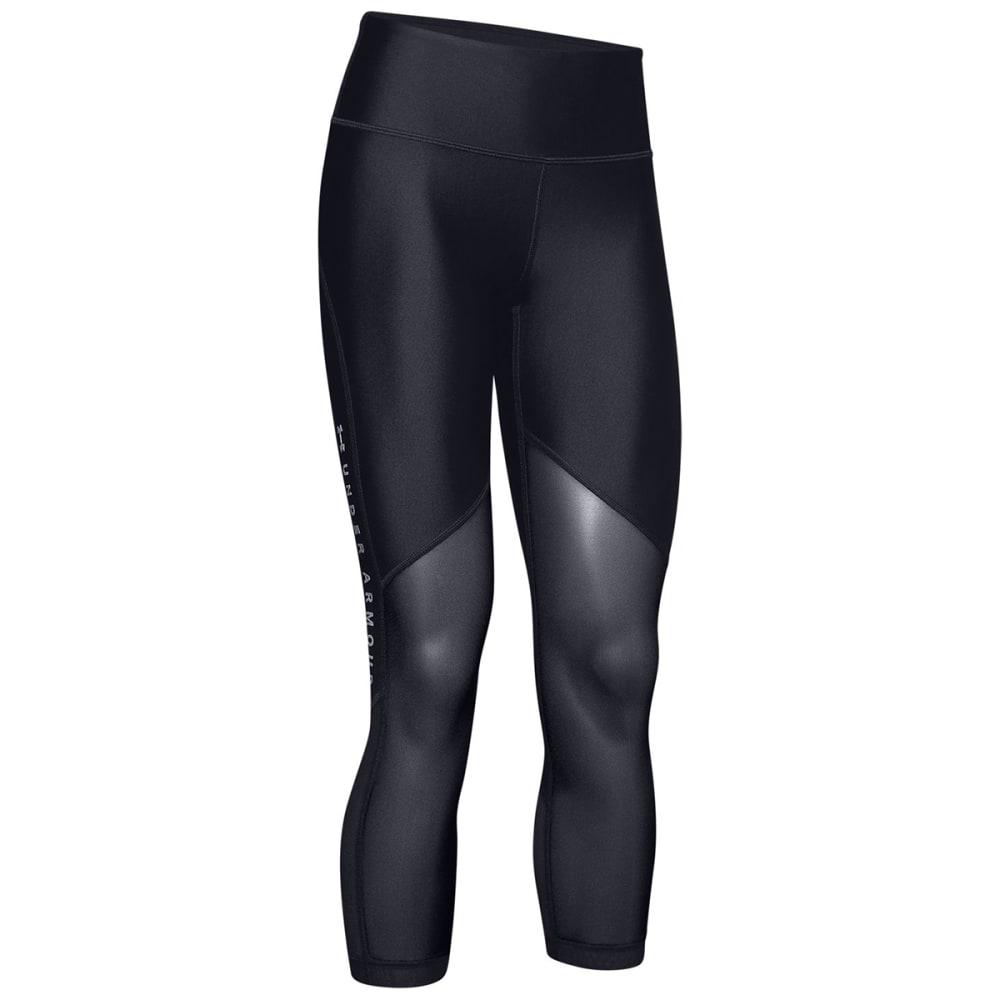 UNDER ARMOUR Women's HeatGear Mesh Graphic Ankle Crop Training Pants S