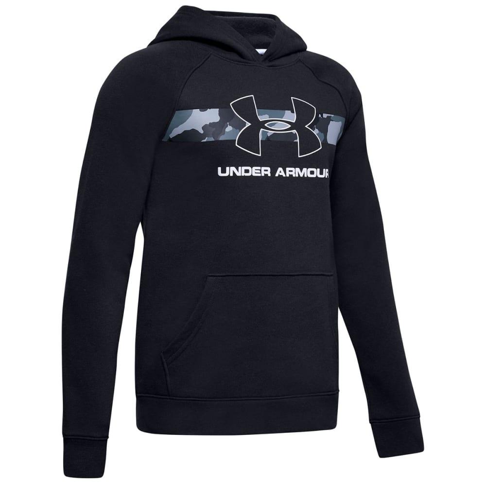 Under Armour Boys' Rival Logo Hoodie - Black, S