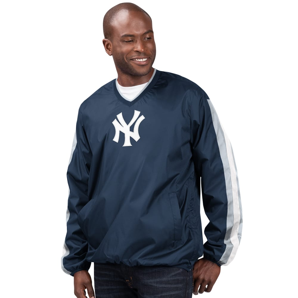 NEW YORK YANKEES Men's Kickoff V-Neck Pullover Jacket M