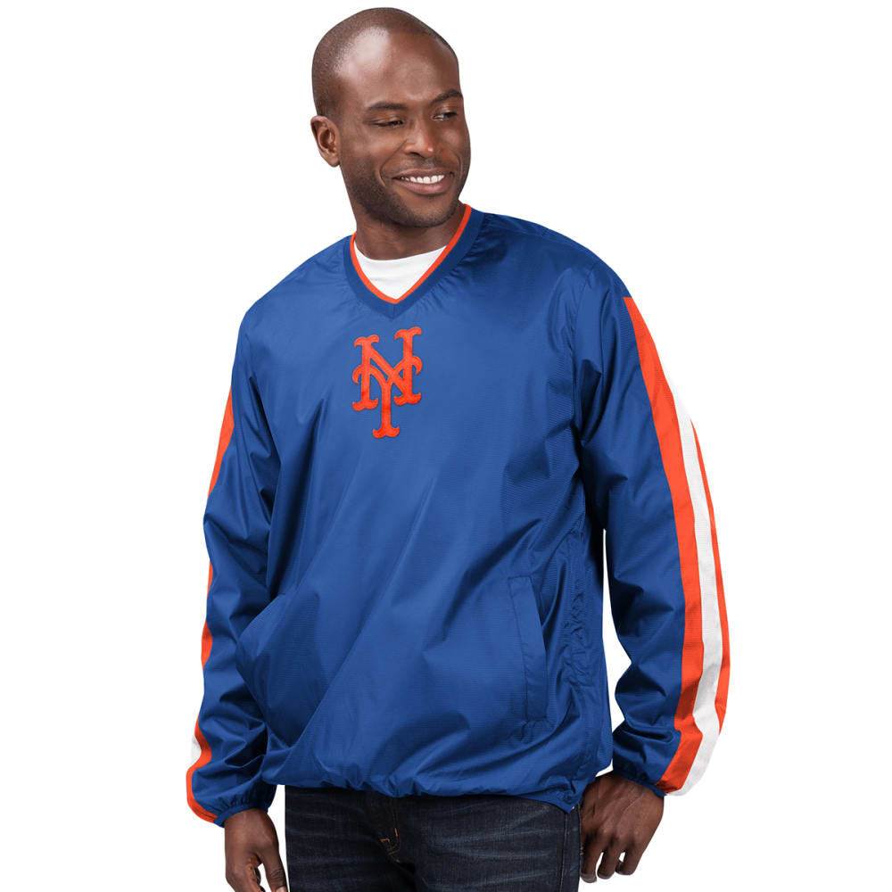 NEW YORK METS Men's Kickoff V-Neck Pullover Jacket M