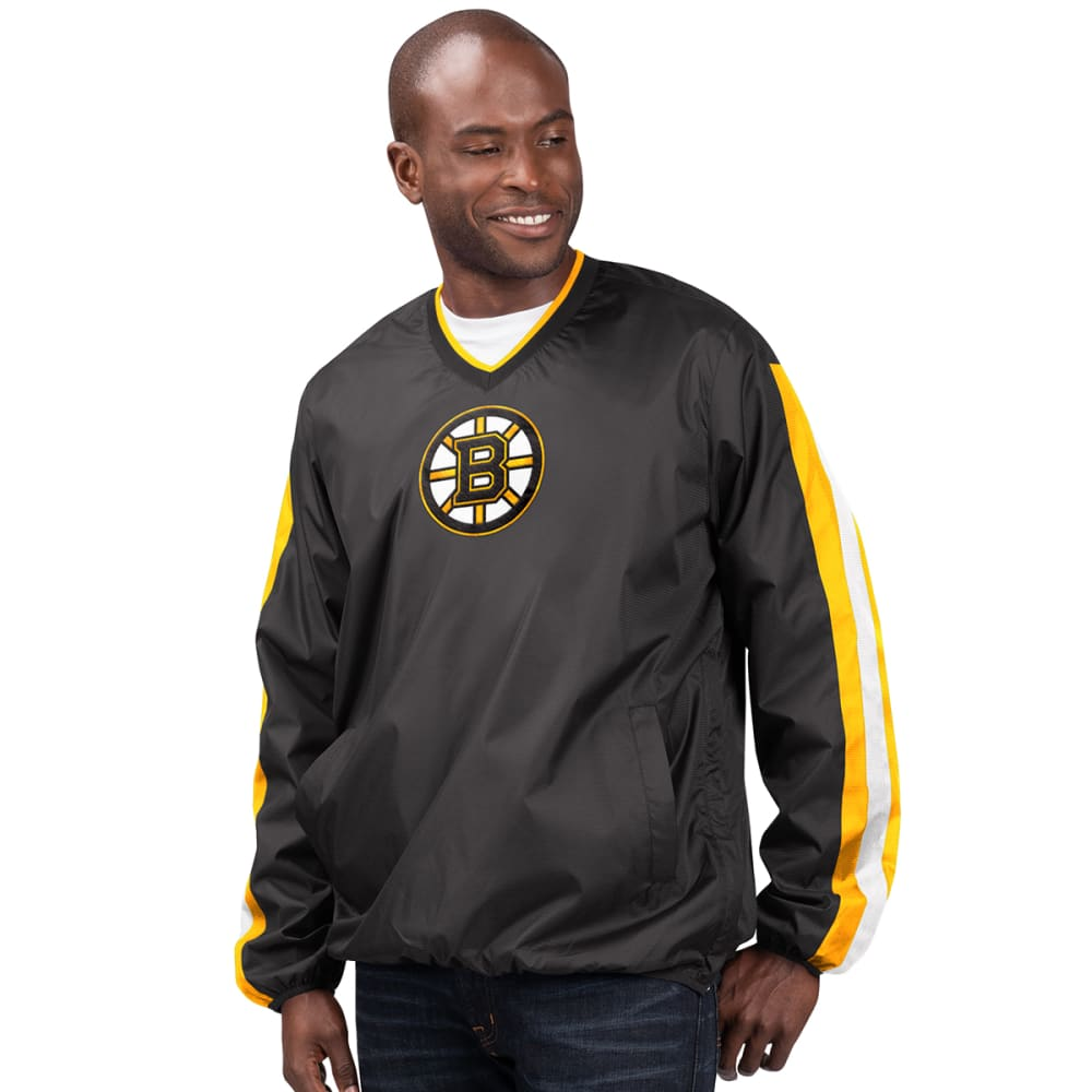 BOSTON BRUINS Men's Kickoff V-Neck Pullover Jacket M
