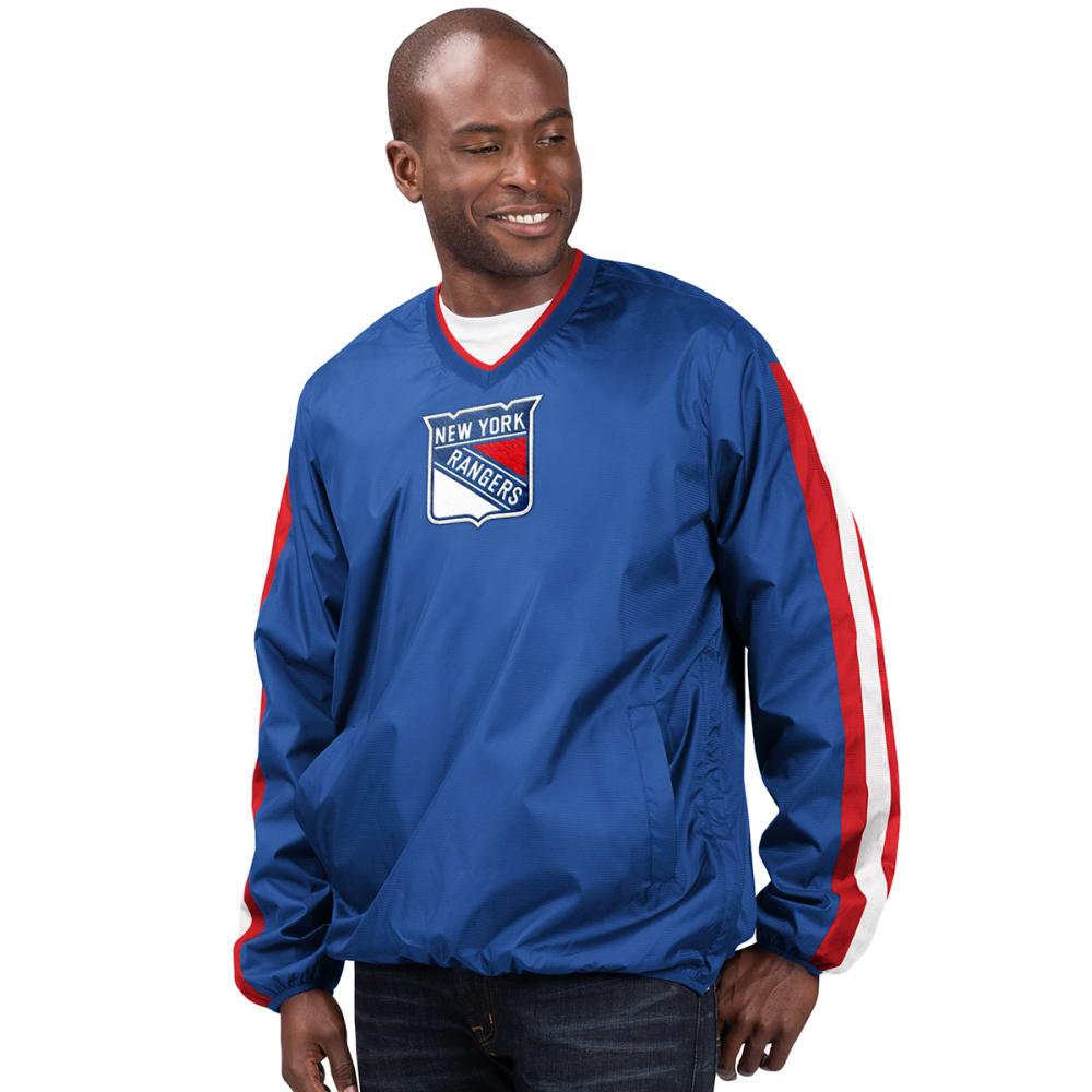 NEW YORK RANGERS Men's Kickoff V-Neck Pullover Jacket M