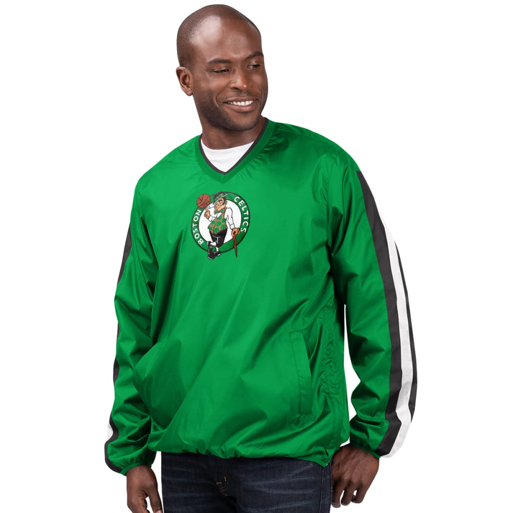 BOSTON CELTICS Men's Kickoff V-Neck Pullover Jacket M