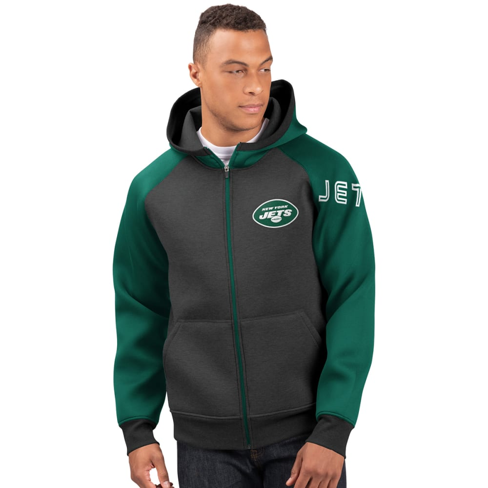 NEW YORK JETS Men's Wild Card Full Zip Hooded Jacket M