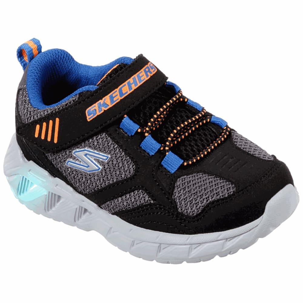 SKECHERS Boys' Magna Lights Sneakers - BLACK-BBOR