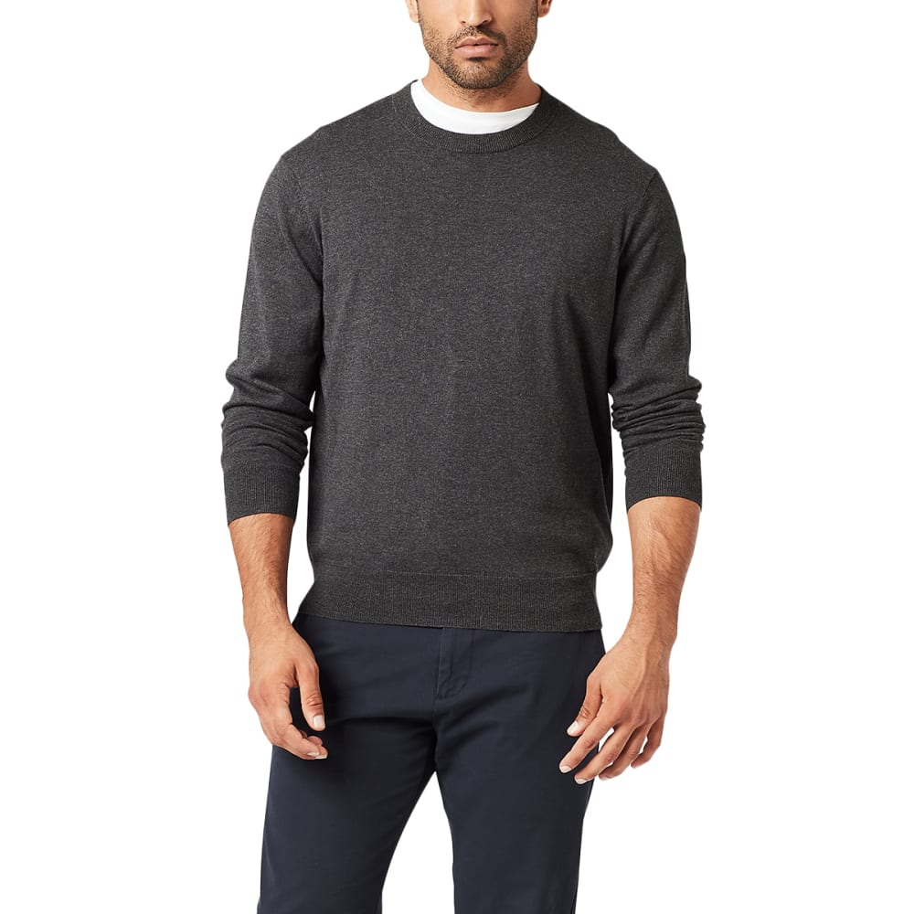 DOCKERS Men's Cotton Heather Crewneck Sweater M