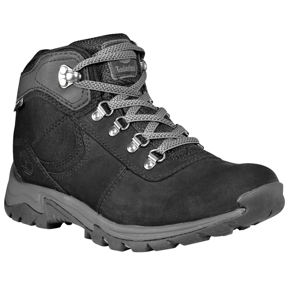 Timberland Women's Mt. Maddsen Mid Waterproof Hiking Boots - Black, 8