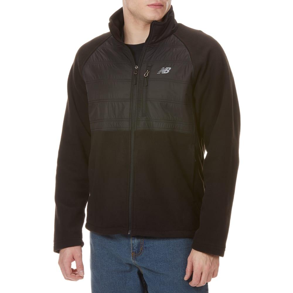 NEW BALENCE Men's Dobby Overlay Fleece - BLACK-BK001