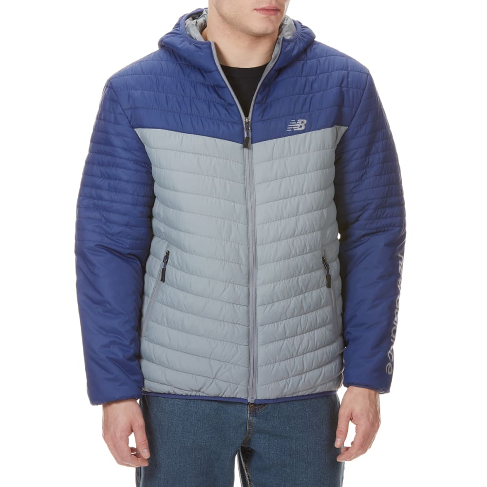 NEW BALENCE Men's Colorblocked Hooded Cire Puffer Jacket M