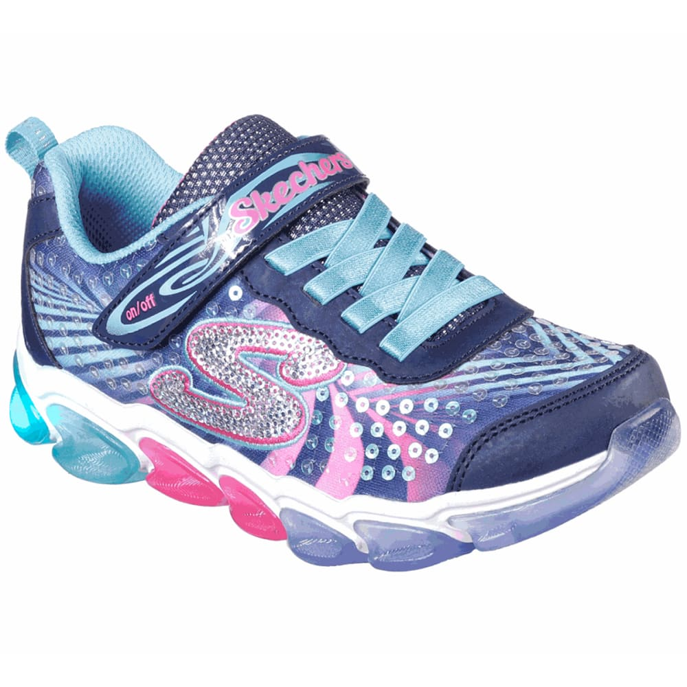 Skechers Girls' S Lights Jelly Beams Sneaker - Blue, 11