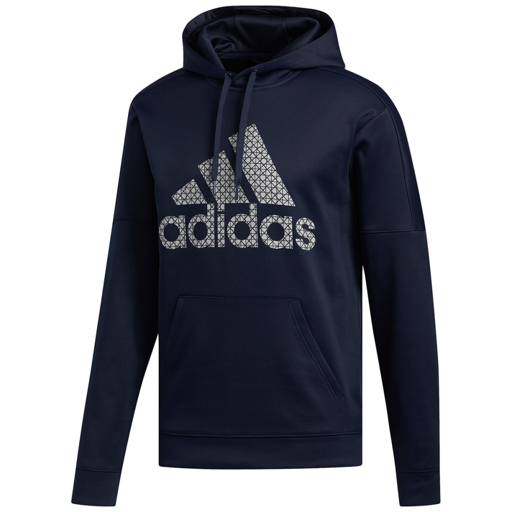 ADIDAS Men's Badge of Sport Grid Team Hoodie M