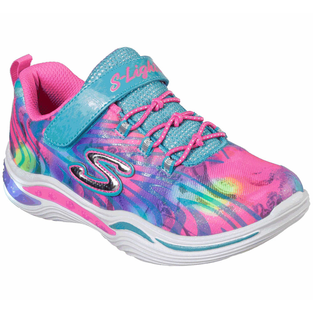 Skechers Girls' Power Petals - Flower Spark Sneaker - Various Patterns, 11