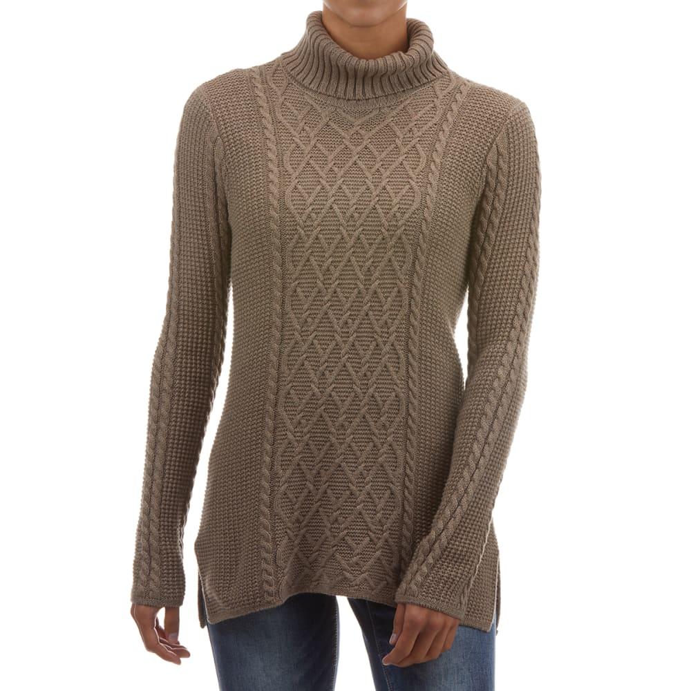 JEANNE PIERRE Women's Cotton Cable Knit Turtleneck S